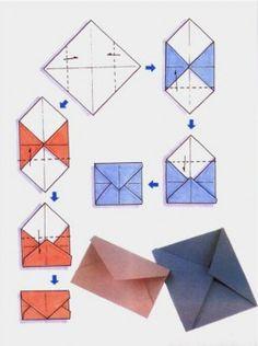 Схема сборки конверта оригами. Вариант 2