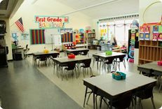 Creative ways to organize classrooms  Lots of pictures of different classrooms
