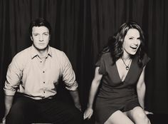 Cool gif of Nathan Fillion and Stania as Castle and Beckett