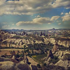 Cappadocia region in Turkey - photo by fesign via flickr