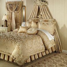 Regent Gold Comforter Set Antique Gold
