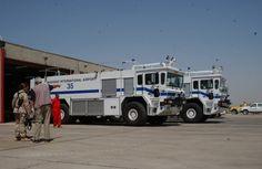 military fire trucks | Baghdad International Airport, formerly Saddam International Airport