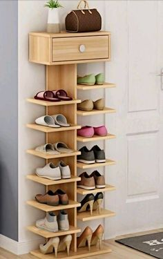 Whichever shoe storage ideas you choose in consider not only their functionality, but also their home decor wow factor.f you love the industrial décor look, this is a great DIY shoe rack to…Daha fazlası Diy Shoe Rack, Wood Shoe Rack, Shoe Shelf Diy, Shoe Rack Closet, Wood Shoe Storage, Shoe Storage For Front Door, Room Closet, Shoe Racks For Closets, Shoe Rack Pallet