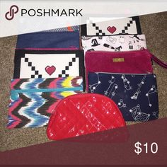IPSY Makeup bags: 2 for $10 Small carrying bags great for makeup, toiletries or anything else! IPSY Bags Cosmetic Bags & Cases