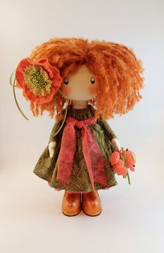 Hey, I found this really awesome Etsy listing at https://www.etsy.com/pt/listing/225404016/doll-ivi-redhead-textile-doll-cloth-doll