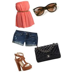 Tenue by chouquette-oreo on Polyvore featuring polyvore, beauté, Thierry Lasry, Chanel and Aéropostale