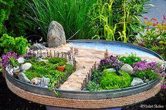 Miniature Garden Inspired by the Beach                              …