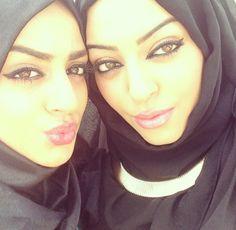 Hijabi princesses--great dramatic eyeliner and soft lip color.