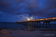 Moon Rise over pier