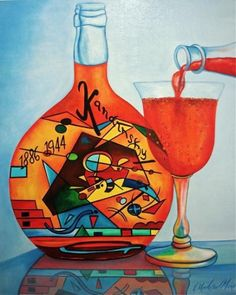 Blueberry Postre Tarta de 5 x 7 al óleo original en el panel de molino SALA II, pintura original del artista Salón de Granos II | DailyPainters.com