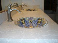 Concrete Counter Tops Bathroom - Davis Concrete - 951-461-7123 - Lake Elsinore CA