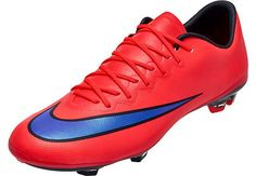 Nike Youth Mercurial Vapor X FG Soccer Cleats - Red and Purple