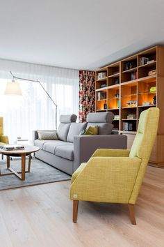 library in living room,modern armchair
