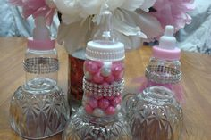 Baby Bottle Favors Bling Decorations; Princess Baby Shower Favors; Baby Bottle Favors; Guest Thank You Gifts; Table Decorations; Princesses by SimplyCreatedForYou6 on Etsy