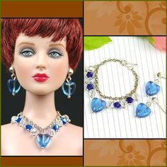 This item fits: 16 Tonner Doll * Package includes:  1 set handmade jewelry(include 1 necklaces and 1 pairs of earrings) for tonner doll.    The dolls and