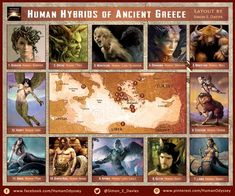 The Greeks adapted many of the monsters in their legends from the near east influences. However it can be argued that their depiction of these fabulous beasts are among the most iconic and unique in world mythology. Greek Creatures, Fantasy Creatures, Mythical Creatures, World Mythology, Greek Mythology, Folklore, Dungeons And Dragons, Fabulous Beasts, Myths & Monsters
