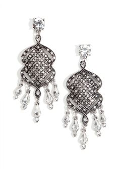 Over The Top Sparkle Statement Earrings #fashion #style #vintagesilver #chandelierearrings #earrings - 15,90 € @happinessboutique.com