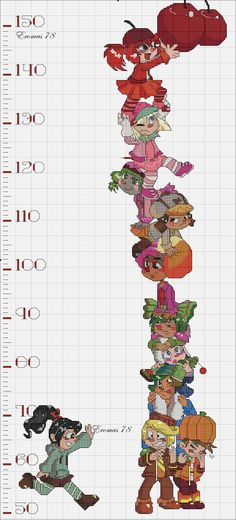 Wreck-It Ralph Height Chart! (2100×4634)