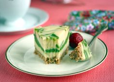 Marbled Matcha-Lemon Raw Vegan Cheesecake @rickiheller