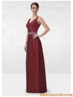 A-Line/Princess V-neck Floor Length Satin Bridesmaid Dresses Satin Bridesmaid Dresses, Prom Dresses, Formal Dresses, Floor, V Neck, Colorful, Princess, Wedding, Fashion