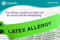 Latex allergy: Allergic reactions to latex can be severe and life-threatening. Read about the different types of reactions to latex and what products & foods cross react.