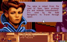 The first Dune game, 1992. One of the first games I played, loved it.