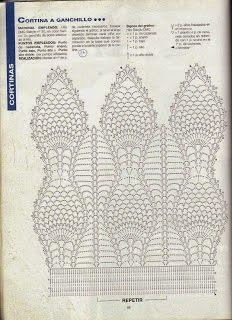 Cortinas em Crochê com Gráfico II