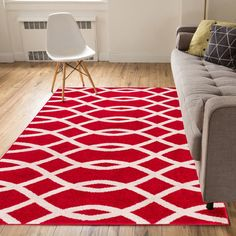 Elevate the chic appeal of your space with the Well Woven Mystic Poofy Indoor Area Rug. Crafted from polypropylene, this area rug is both stain- and fade-resistant, and it has a protective jute backing that's safe for any flooring type. Light Blue Area Rug, White Area Rug, Beige Area Rugs, 8x10 Area Rugs, Geometric Lines, Abstract Lines, Geometric Patterns, Room Accessories, Contemporary Rugs
