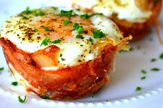 Mini Bacon Egg and Toast Cups - we are going to try these in our test kitchen then add them to our breakfast menu.  They look terrific! #breakfast #eggs #stowemeadows