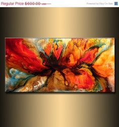 Modern Abstract Painting original Canvas art by newwaveartgallery, $480.00