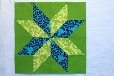 Starflower Block Tutorial--takes about 30 minutes per block, but looks great when it's done; using HST's is nice and easy.
