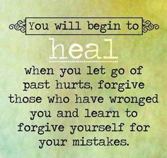 """▪""""When we forgive, either another or ourselves, we may remember the offense, but we are not troubled by the memory. It no longer affects our actions or our feelings. It no longer results in negative thoughts. The matter has ceased to cause us pain. We are at peace."""" –Gary G. Taylor ▪Learn more about forgiveness www.lds.org/topics/forgiveness"""