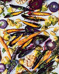 Chicken-Fat-Roasted Vegetables with Gremolata Recipe on Food & Wine