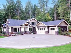 Plan 2374JD: 4 Bed Rambler With Vaulted Great Room. Craftsman Style House  PlansCraftsman ...