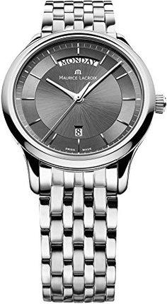 Maurice Lacroix 13045 - Reloj para hombres, correa de acero inoxidable color plateado