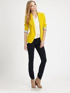 Rag & Bone Lemon Yellow Blazer.