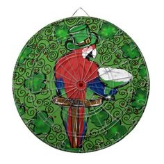 St Patty Parrot Dartboard With Darts - st patricks day gifts Saint Patrick's Day Saint Patrick Ireland irish holiday party