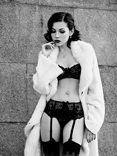 All fur coat - and sexy underwear! #Sexy
