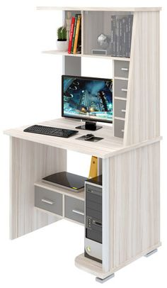Computer Desk Design, Computer Desks For Home, Office Table Design, Home Office Table, Home Desk, Home Office Design, Small Room Desk, Furniture Decor, Furniture Design