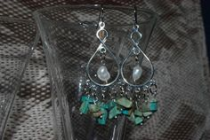 Turquoise and Seed Pearls $10