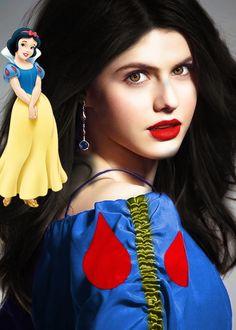 Alexandra Daddario as Snow White Disney Fan Cast