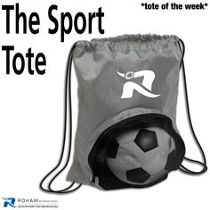 #RohamInt #ToteoftheWeek– The Sport Tote!  The Sport Tote is great for your brand to reflect an active lifestyle and with your company branding, you can be the all-star of your clients!