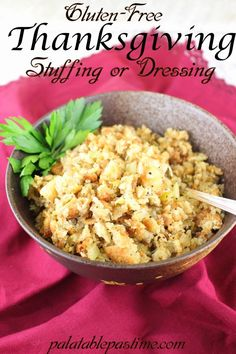 Thanksgiving Lunch, Stuffing Recipes For Thanksgiving, Gluten Free Thanksgiving, Thanksgiving Side Dishes, Holiday Recipes, Holiday Foods, Thanksgiving Dressing, Christmas Recipes, Gluten Free Stuffing