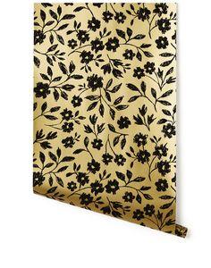 Sketchbook Floral (Gold) wallpaper (hyggeandwest)