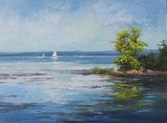 """Sailing the Bay"" by Sandy Nelson Oil ~ 12 x 16"