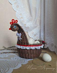 """Купить Корзинка пасхальная """"Курочка Ряба"""" - Пасха, пасхальный подарок, пасхальные подарки, пасхальные яйца"""