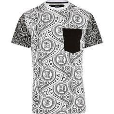 White 26 Million paisley colour block t-shirt - branded t-shirts - t-shirts / vests - men
