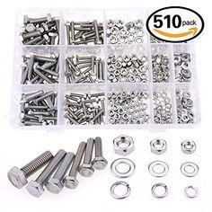 Glarks 510 Pieces Flat Hex Stainless Steel Screws Bolts n... https://www.amazon.com/dp/B01FWZUKWU/ref=cm_sw_r_pi_dp_x_lNgYybFM9SCB7