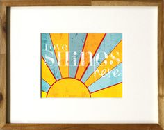 Love Shines Here Printable art. Perfect for to add to a gallery wall or a nursery.