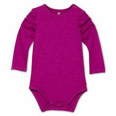 Okie Dokie® Long-Sleeve Slub Bodysuit - Girls newborn-9m - jcpenney